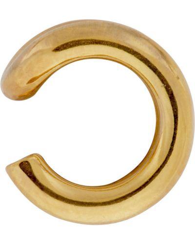 Srebrne kolczyki złoto z mankietami All Blues