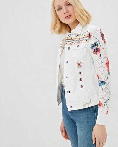 Джинсовая куртка весенняя белая Desigual