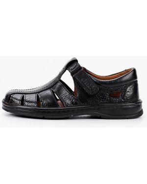 Кожаные сандалии - черные Gut