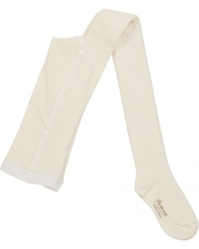 Кашемировые колготки - белые Bonpoint