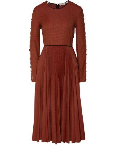 Платье миди со вставками на молнии Fendi