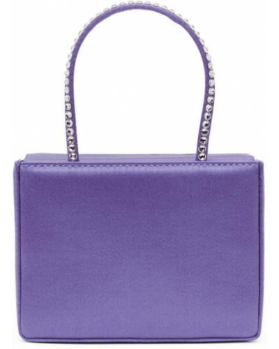 Фиолетовая кожаная косметичка с подкладкой Amina Muaddi
