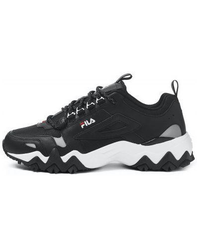 Кожаные кроссовки - черные Fila