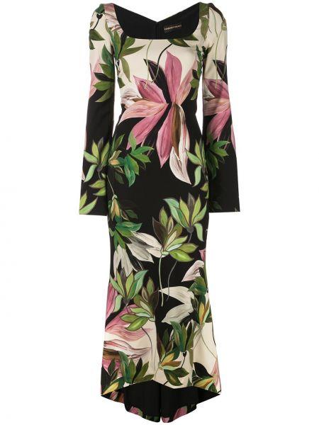 Облегающее шелковое асимметричное облегающее платье с вырезом Christian Siriano