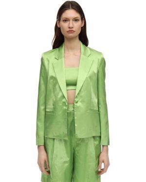 Зеленый пиджак с карманами с отворотом Staud