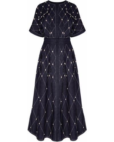 Джинсовое платье миди - синее Alena Akhmadullina