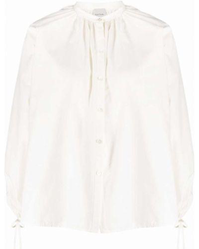 Шелковая рубашка с воротником-стойка на пуговицах Paul Smith
