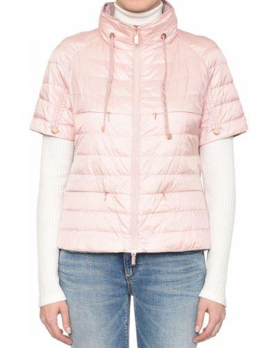 Пуховик с перьями розовый Diego M