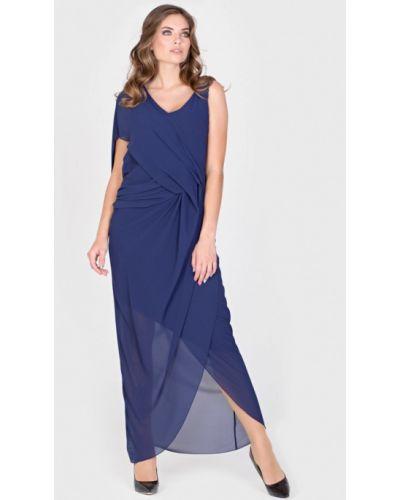Вечернее платье осеннее синее Filigrana