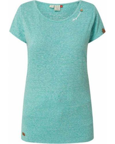 Zielona koszulka z wiskozy Ragwear