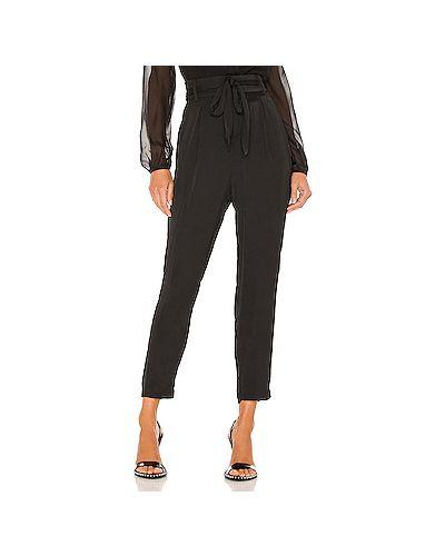 Кашемировые черные брюки с карманами с завязками Cupcakes And Cashmere