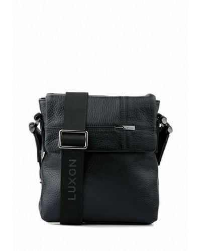 Кожаная сумка черная Luxon