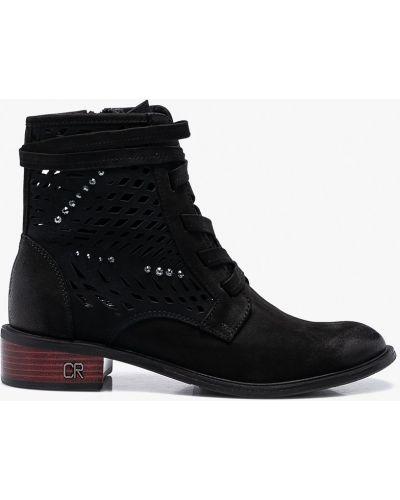 Черные кожаные сапоги Carinii