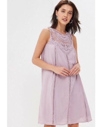 Прямое фиолетовое платье Baon