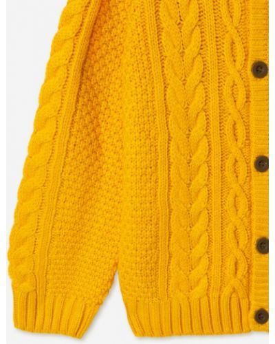 Желтая кофта с манжетами Gloria Jeans