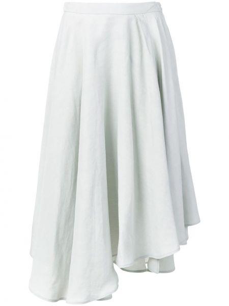 Prążkowana spódnica midi asymetryczna z wiskozy Fabiana Filippi