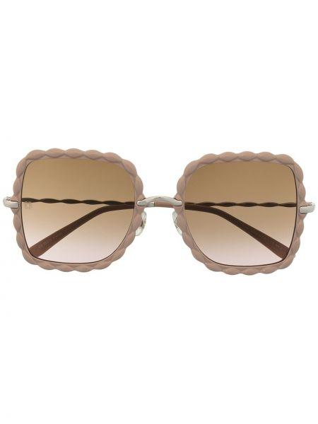 Prosto różowy okulary przeciwsłoneczne dla wzroku metal przycięte Elie Saab