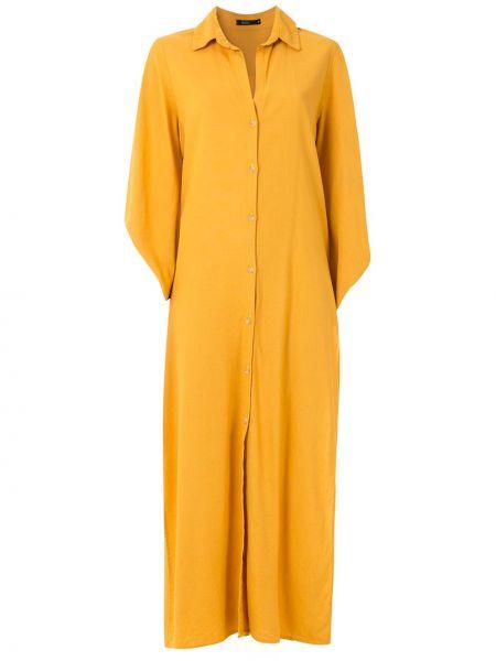 Koszula nocna z wiskozy - żółta Esc