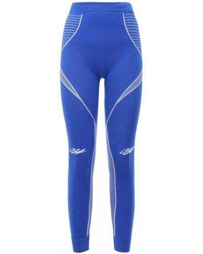 Niebieski legginsy elastyczny Off-white