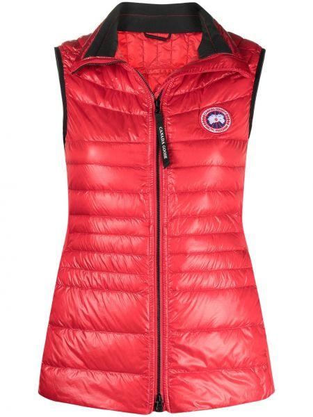 Красная жилетка без рукавов с вышивкой Canada Goose