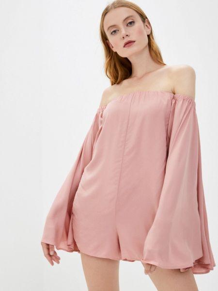 Платье-комбинезон весенний розовый комбинезон Pilyq