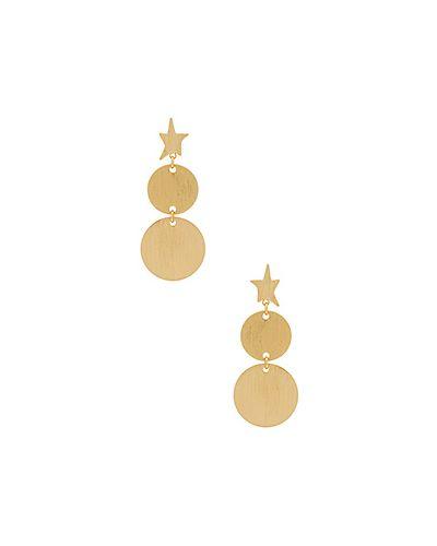 Серьги позолоченные золотого цвета Rebecca Minkoff