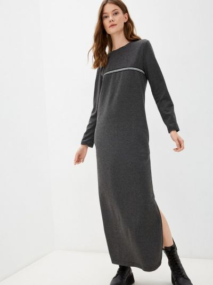 Серое повседневное платье Rene Santi