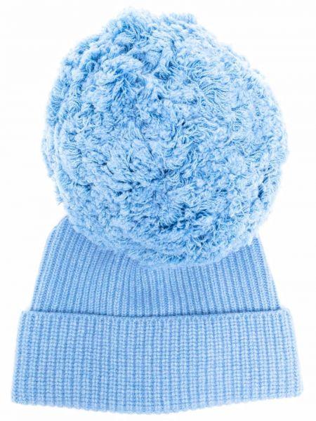 Синяя кашемировая шапка бини Alberta Ferretti