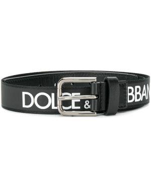 Черный ремень Dolce & Gabbana Kids