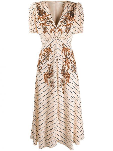 Платье мини миди на пуговицах Saloni