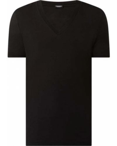 T-shirt bawełniana - czarna Dsquared2 Beach & Body