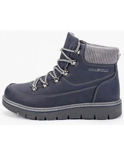 Синие ботинки из нубука Lolli L Polli