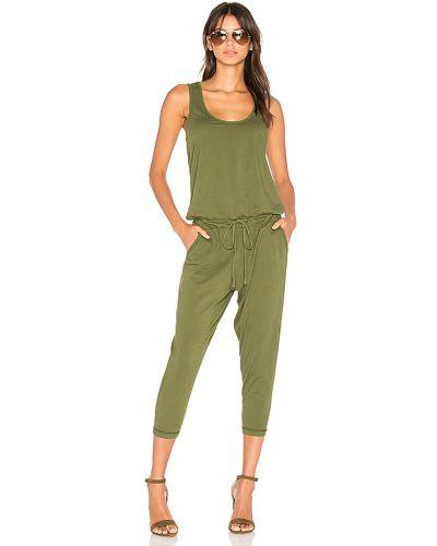 Bawełna zielony kombinezon z kieszeniami bez rękawów Bobi