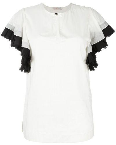 Блузка с рюшами белая Tory Burch