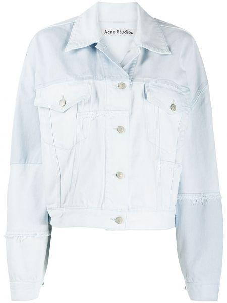 Джинсовая куртка длинная на пуговицах Acne Studios
