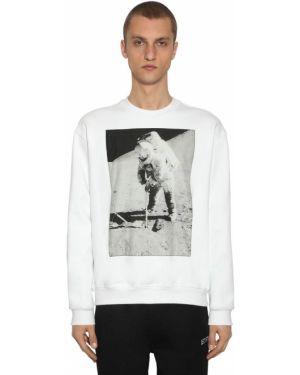 Biała bluza bawełniana z printem Calvin Klein Established 1978