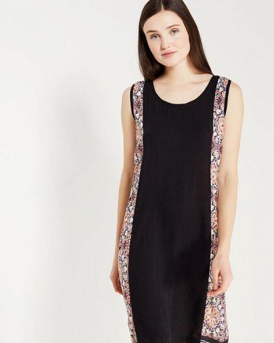 Черное прямое платье Relax Mode