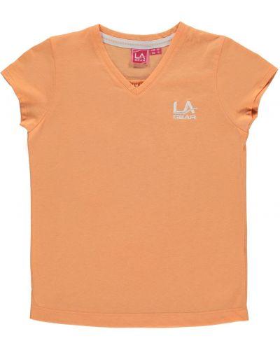 Koszula bawełniana krótki rękaw z haftem La Gear