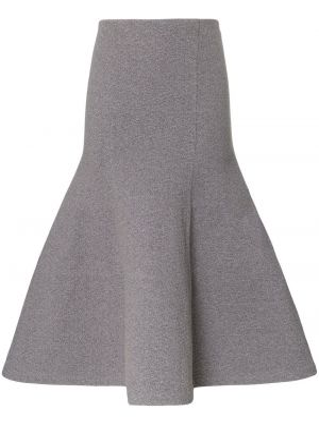 Хлопковая серая расклешенная юбка Vika Gazinskaya
