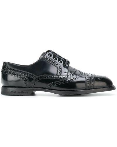 Ботинки на шнуровке с перфорацией Dolce & Gabbana