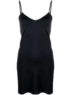 Платье с V-образным вырезом - черное Hanro