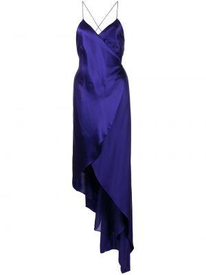 Шелковое платье - фиолетовое Michelle Mason