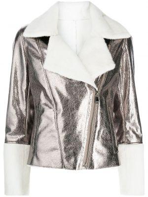 Biała kurtka srebrna Apparis