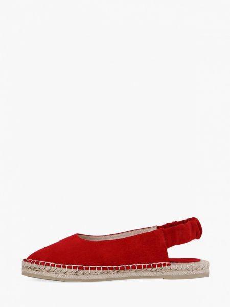 Велюровые красные туфли с открытой пяткой Portal