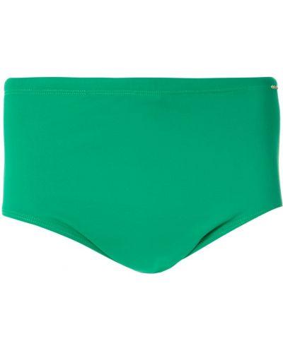Зеленые плавки с поясом со вставками Amir Slama