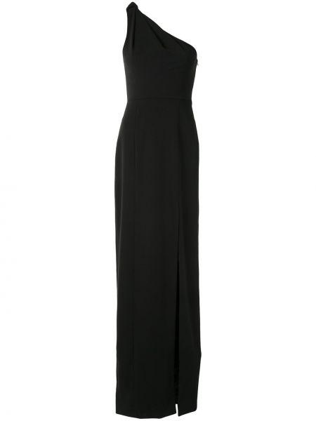 Приталенное черное платье макси на одно плечо Jay Godfrey