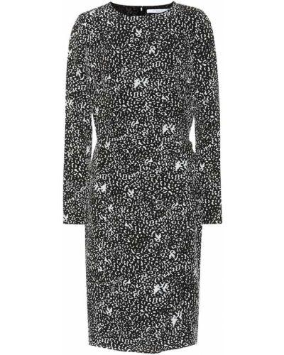 Czarny jedwab sukienka Givenchy