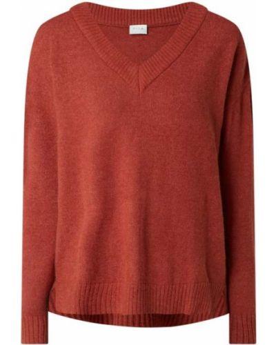 Brązowy sweter z dekoltem w serek Vila