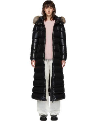 Пальто с капюшоном длинное стеганое Moncler
