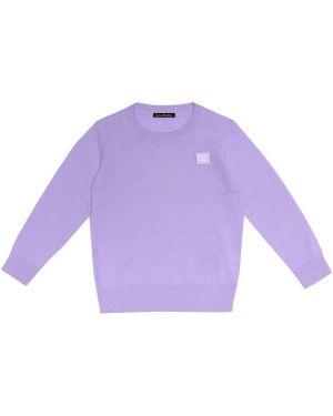 Fioletowy sweter wełniany Acne Studios Kids